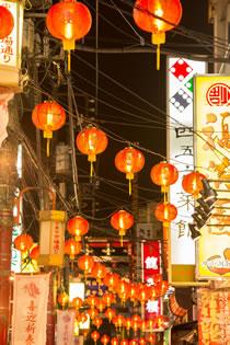中華街の夜景